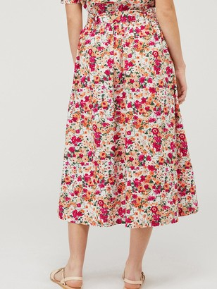 Monsoon Julissa Print Organic Cotton Skirt