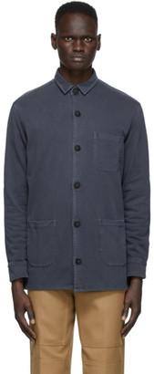 Schnaydermans Black Garment-Dyed Over Shirt