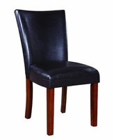 Ada Upholstered Parsons Chair in Black Red Barrel Studio