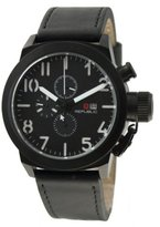 Republic Men's Leather Strap Chronograph Watch RP1069