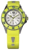 Neon Yellow Silicone & Stainless Steel Strap Watch/40MM