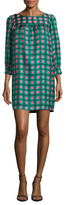 Manoush Arty Tartan Silk Shift Dress
