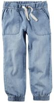 Carter's Baby Girl Chambray Denim Jogger Pants