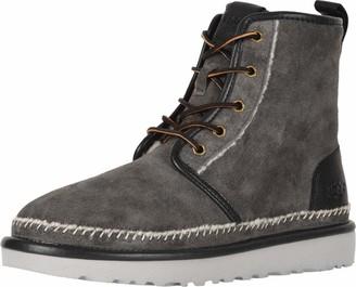 UGG Men's HARKLEY Stitch Chukka Boot dark grey 10 Medium US