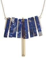 Oliver Bonas Ninsei Lapis & Brass Rod Necklace