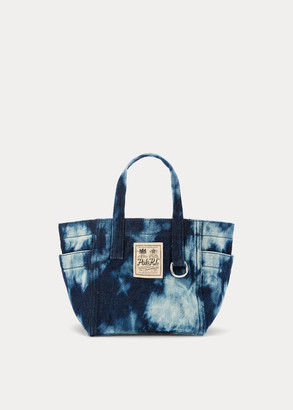Ralph Lauren Denim Tie-Dye Mini Tote Bag