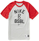 Nike Big Boys 8-20 Graphic Raglan-Sleeve Baseball Tee