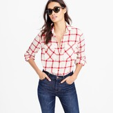 J.Crew Petite boyfriend shirt in vintage red plaid