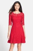 Eliza J Lace Fit & Flare Dress (Regular & Petite)