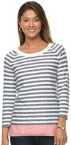 Caribbean Joe Women's Striped Crewneck Sweater