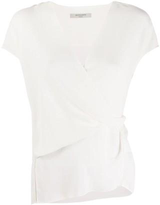 AllSaints wrap style T-shirt