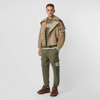 Burberry Detachable Quilted Hood Nylon Bomber Jacket