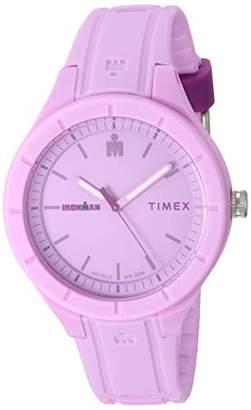 Timex TW5M17300 Ironman Essential Urban Analog 38mm Light Purple/Purple Silicone Strap Watch