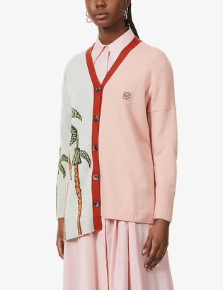 Loewe x Ken Price asymmetric wool cardigan