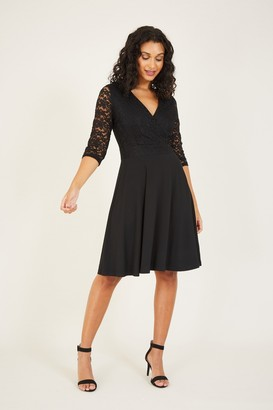 Yumi Lace Top Skater Dress