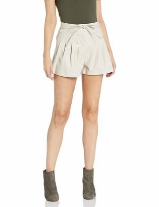 Blank NYC Women's Vegan Leather Short Beige