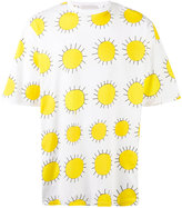 Christopher Kane oversize all over printed sun T-shirt - men - Cotton - One Size