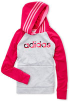 adidas Girls 7-16) Logo Raglan Fleece Hoodie