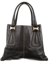 Tod's Black Pebbled Leather Tote