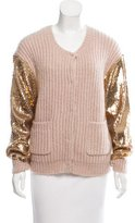 By Malene Birger Sequin Embellished Wool & Mohair-Blend Cardigan