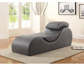 Brayden Studio Agridaki Ac Yoga Chaise Lounge Upholstery Color: Brown