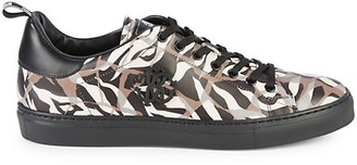 Roberto Cavalli Tiger Low-Top Leather Sneakers