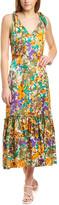 Warm Georgia Silk Maxi Dress
