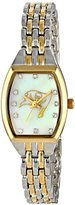 Game Time Women's NFL-WCL-TB World Class Two-Tone Stones Analog Display Japanese Quartz Silver Watch