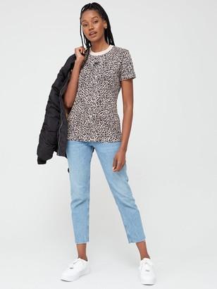 Nike NSWAnimal Print T-Shirt- Beige