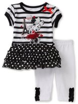 Disney Baby-Girls Infant Minnie Loves Paris 2 Piece Pant Set