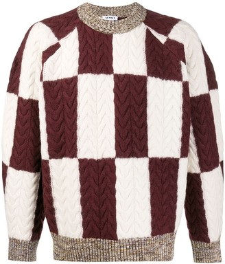 Sunnei Contrast Geometric Sweater