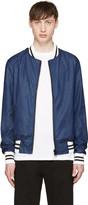 Giuliano Fujiwara Blue Reversible Bomber Jacket
