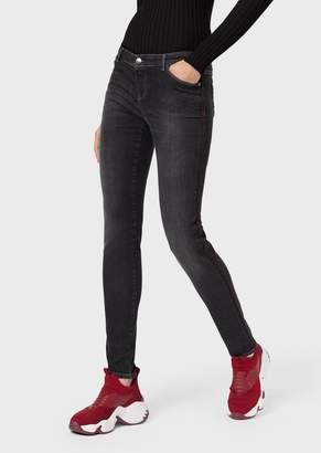 Emporio Armani J23 Super-Skinny Jeans In Light Vintage Stretch Denim