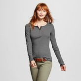 Women's Henley Tee Striped - Mossimo Supply Co. (Juniors')