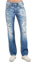 True Religion Men's Straight Ripped Big T Jeans