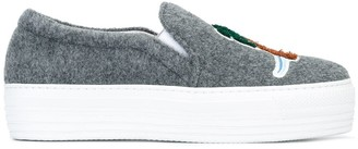 Joshua Sanders patched slip-on sneakers