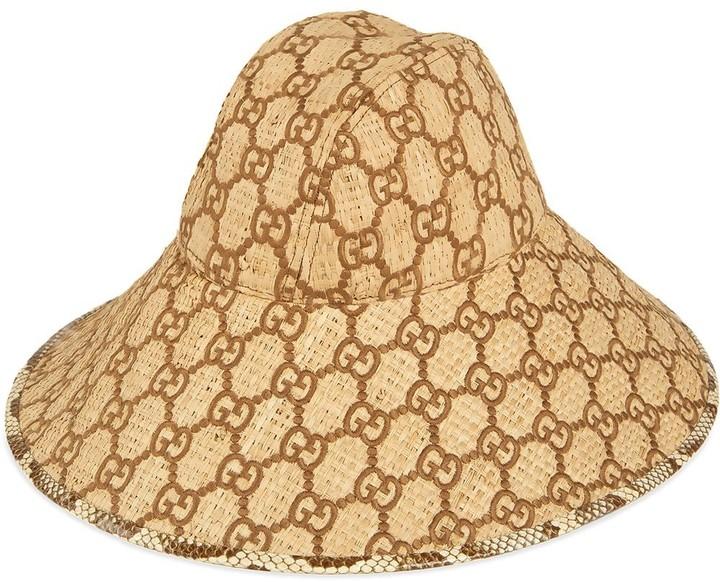 50c304ba1 GG fedora hat with snakeskin