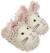 Aroma Home Shoes Fuzzy Friends Rabbit, Women's Open Back Slippers, White (Cream), (41 EU)