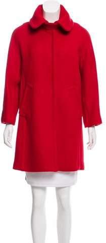 Milly Wool Knee-Length Coat