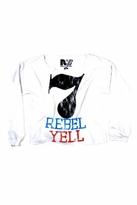 Rebel Yell 7 Boyfriend Pullover in White