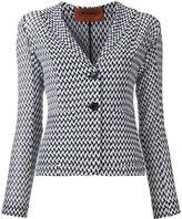 Missoni zig-zag pattern blazer - women - Cotton/Viscose - 38