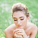 Bridalvenus Wedding Bridal Headband for for Women and Girls - Bridal Hair Piece, Wedding Pearl Hair Vine
