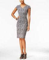 Betsey Johnson Metallic-Knit Sheath Dress