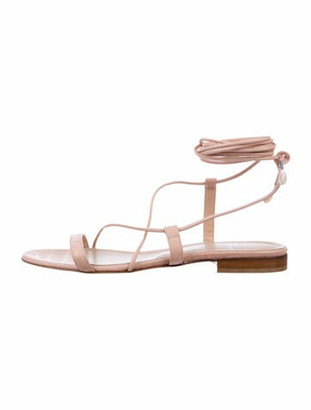 Brother Vellies Leather Gladiator Sandals Pink