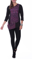 Parsley & Sage Textured Front Tunic Top