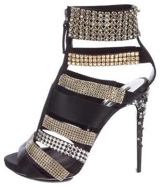 Diego Dolcini Embellished Cage Sandals