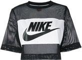 Nike printed mesh crop top - women - Polyester - S