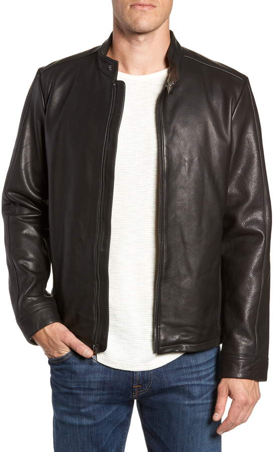 UGG Orlando Leather Racer Coat