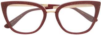 Cat Eye Glitter Glasses