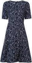Oscar de la Renta floral print dress - women - Cotton/Spandex/Elastane - 6
